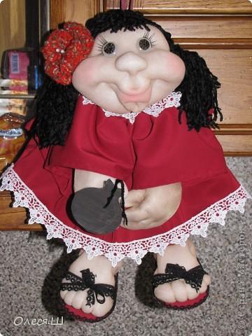 Здравствуйте! Знакомьтесь, это Кармелита)))) Моя вторая куколка попик. Влюбилась в них, не могу оторваться теперь, фантазирую и шью. Еленочка (pawy), спасибо огромное за мастер классы))))) фото 1