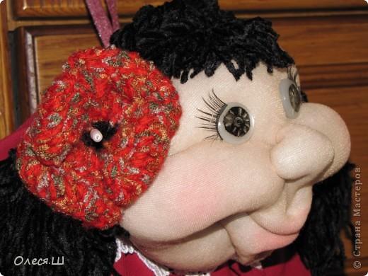 Здравствуйте! Знакомьтесь, это Кармелита)))) Моя вторая куколка попик. Влюбилась в них, не могу оторваться теперь, фантазирую и шью. Еленочка (pawy), спасибо огромное за мастер классы))))) фото 4