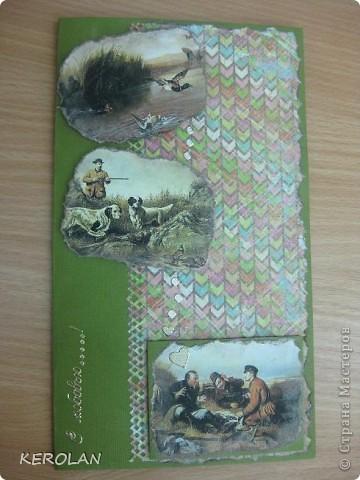Здравствуйте, мастерицы! Я с новыми открытками.  Это моя любимая открытка. Картинку нашла в интернете, распечатала 4 раза, проклеила ещё раз на принтерную бумагу для плотности, потом вырезала мотивы по убывающей. фото 8