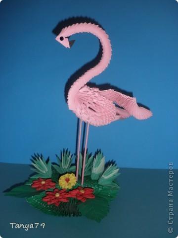 Продолжаю выставлять свои работы.   Спасибо за МК, по которому я сделала своего фламинго.  Он очень понравился друзьям и знакомым. фото 1