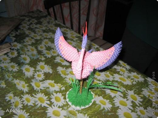 Этот журавлик больше похож на синюю птицу удачи, но делать его серым рука не поднялась! фото 4
