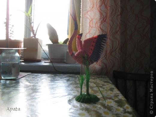 Этот журавлик больше похож на синюю птицу удачи, но делать его серым рука не поднялась! фото 6