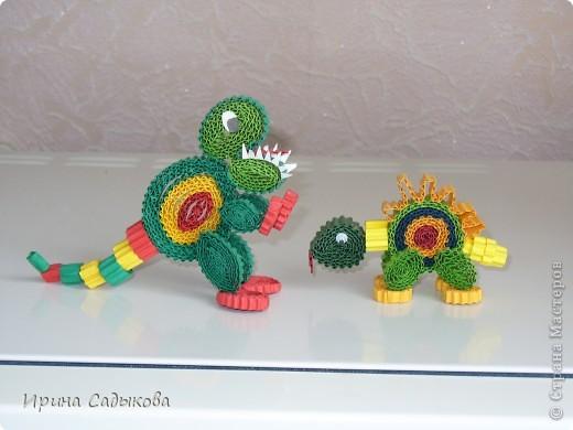 Благодаря МК Ларисочки http://stranamasterov.ru/node/113306 у нас с сыном получились такие динозаврики фото 1