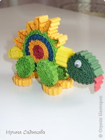 Благодаря МК Ларисочки http://stranamasterov.ru/node/113306 у нас с сыном получились такие динозаврики фото 2