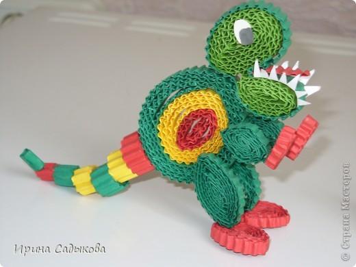 Благодаря МК Ларисочки http://stranamasterov.ru/node/113306 у нас с сыном получились такие динозаврики фото 3