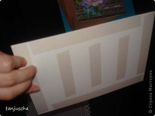 Сделала вот такую открытку. Получилась большая размер 19 x25. фото 7