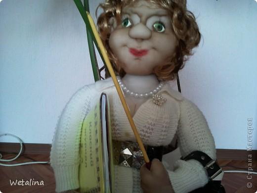 Вот такая учительница получилась на подарок куме.  Она работает учителем в начальной школе. Учитель от бога!!!! фото 5