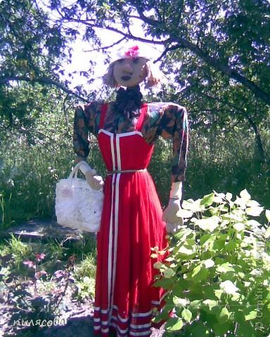 Мадам Чучелло живёт у нас в огороде среди своих друзей петушка и Божьей коровки. фото 7