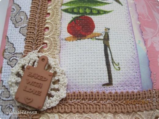 вот такие блокнотики декупаж на канве, вязание крючком, кружева, тесьма и декоративные пуговицы и хорошее настроение фото 3