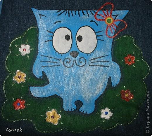 Заказали мне сумку для девочки 9 лет... и опять с котиком :)  Это был первоначальный вариант. фото 2