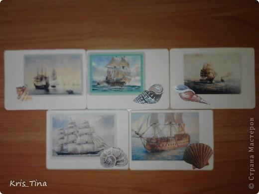 Моя первая серия ATC  *I love sea* фото 1