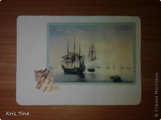 Моя первая серия ATC  *I love sea* фото 2