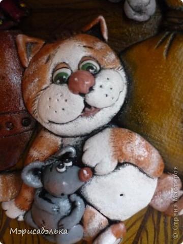 Вот такое получилось мышино-кошачье счастье по мотивам М .Федотовой.Размер 21 на30. фото 2