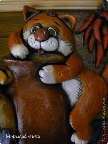 Вот такое получилось мышино-кошачье счастье по мотивам М .Федотовой.Размер 21 на30. фото 3