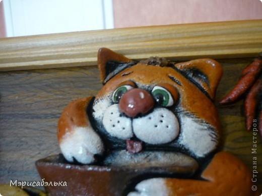 Вот такое получилось мышино-кошачье счастье по мотивам М .Федотовой.Размер 21 на30. фото 4