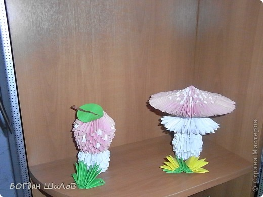 Модульное оригами - МУХОМОРЫ.