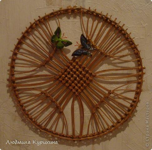 Декоративное панно  из лозы