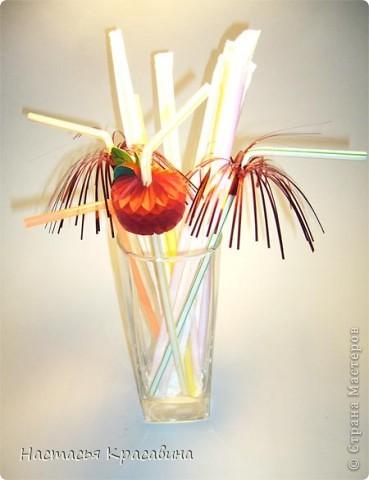 Здравствуйте! Я хочу научить вас делать к празднику эти оригинальные соломинки. фото 13