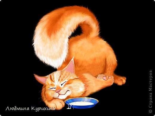 Кот с миской   (взято из картинок интернета, автор не указан) фото 2
