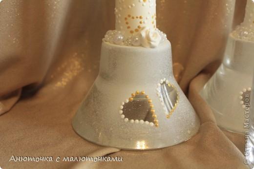Здравствуйте! Нужен коллективный разум :) Делаю наборчик сестре на свадьбу. В перспективе обещают быть бутылки, бокалы, стаканчики и свечки (сундучок, подушечка для колец и корзинки для лепестков не в счёт) фото 5