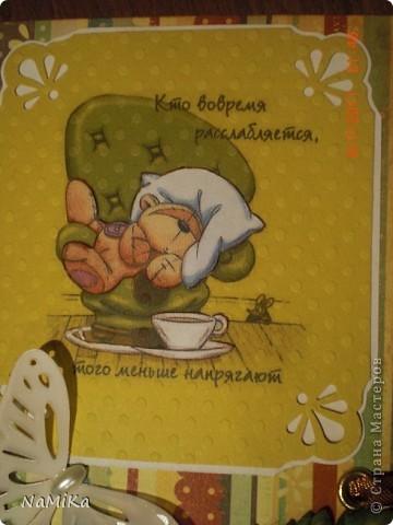 Увидела в СМ такие вот открытки-шоколадницы и  влюбилась. Решила попробовать сделать, да и повод нашелся - сразу два дня рождения. Вот что получилось. фото 3