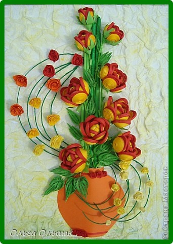 Картина панно рисунок Мастер-класс День семьи Квиллинг С Днём семьи любви и верности +mini МК Бумага гофрированная Бумажные полосы Проволока Салфетки фото 1