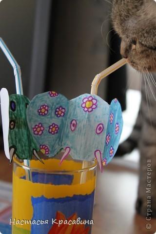 Здравствуйте! Я хочу научить вас делать к празднику эти оригинальные соломинки. фото 11