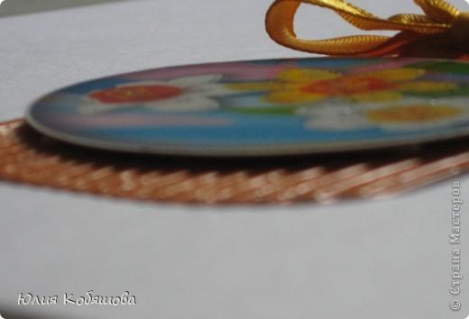 Новая серия карточек АТС. В основе гофрированный картон, картинки  с цветами приклеены на объемный скотч, украшены ленточками и гелем с блестками. фото 11