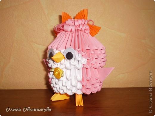 Птенчик розовый с оранжевыми бантиками фото 2