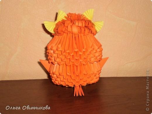 Птенчик розовый с оранжевыми бантиками фото 5