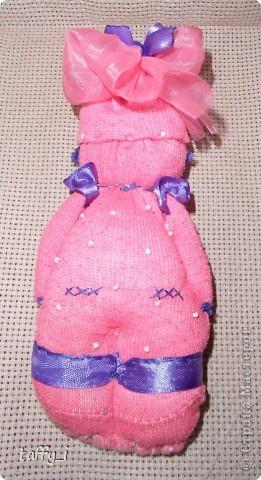 Куклы Шитьё Варенька - куколка из носка Бисер Ленты Нитки Носки фото 2.