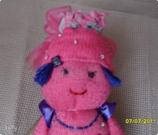 Варенька - куколка из носка Шитьё.