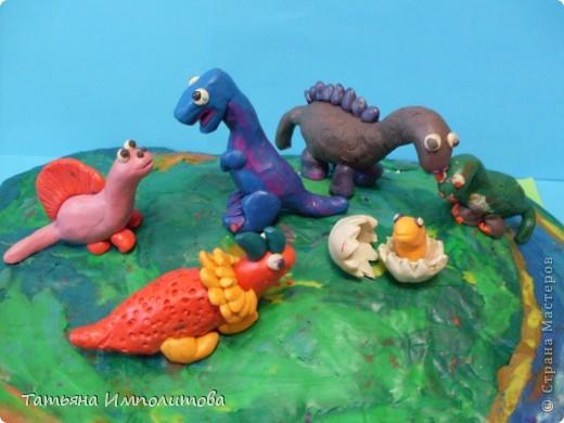 Динозавров лепили вместе с Софией (3,6м) по книге И.А.Лыковой. фото 1