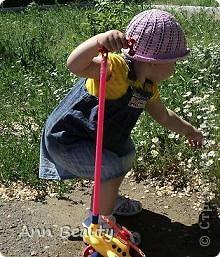 На жаркое лето для дочурки связала вот такую шляпку фото 1