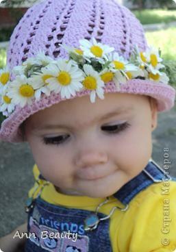 На жаркое лето для дочурки связала вот такую шляпку фото 3