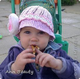 На жаркое лето для дочурки связала вот такую шляпку фото 2