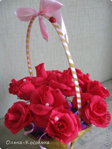 Такую сладкую корзинку сделала своей лучшей подруге на День Рождения! фото 4