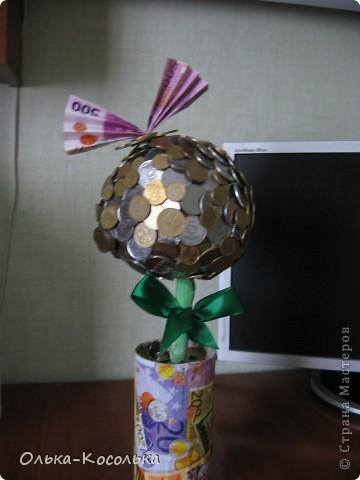 Вот такое денежное дерево я вырастила для своей лучшей подружки - руководителю одного из отделений банка. фото 1