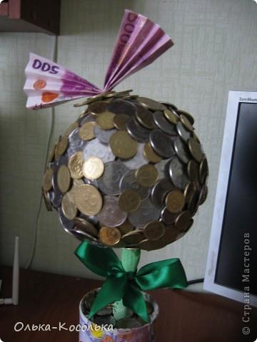 Вот такое денежное дерево я вырастила для своей лучшей подружки - руководителю одного из отделений банка. фото 3