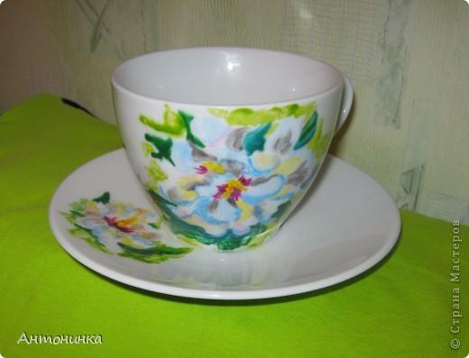 чашечка с колибри  фото 2