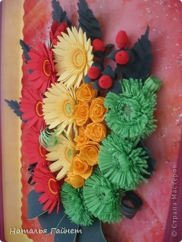 Добрый день, дорогие жители и гости СТРАНЫ Мастеров!!!С праздником Вас! Взгляните, пожалуйста, на мой новоиспеченный Праздничный букет, который я делала в подарок на юбилей.Пусть он подарит Вам прекрасное настроение! фото 6