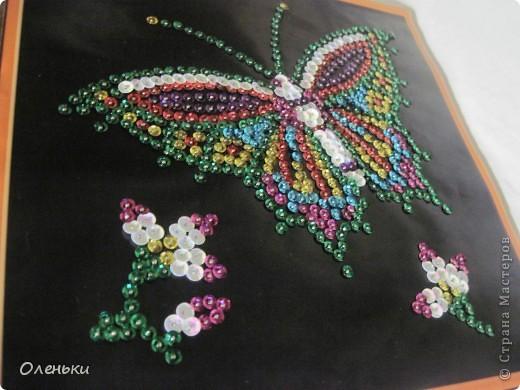 Вот такую работу сделала моя дочка Оля из гвоздиков и пайеток. фото 5