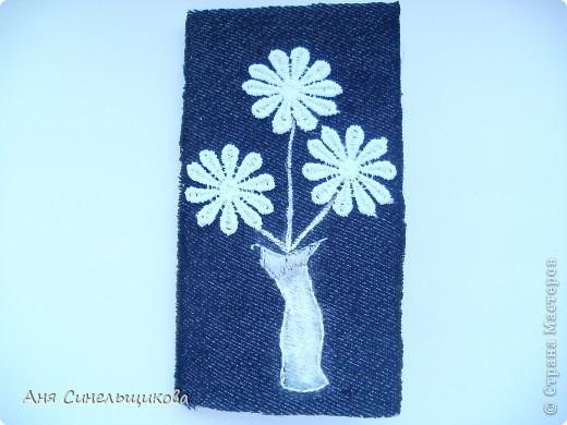 Вот такие вот цветочки на джинсе...