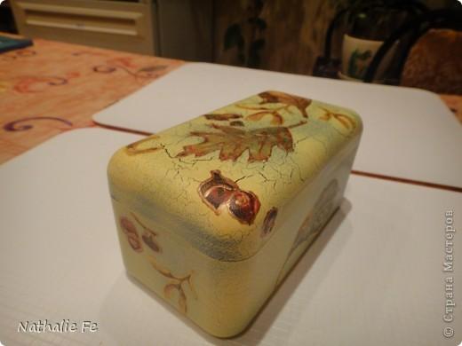 """Декупаж коробочки из-под конфет """"Ferrero rocher"""" фото 12"""