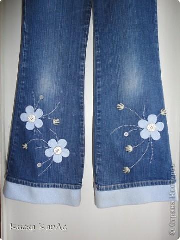Старые джинсы стали коротковаты...но расставаться с ними не хотелось... фото 2