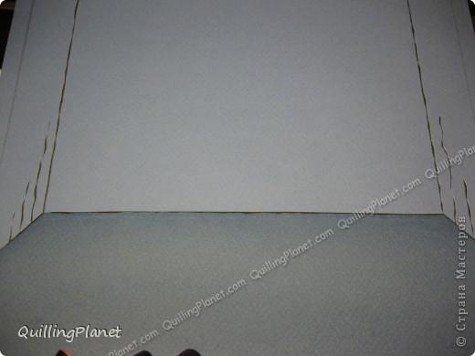 Картина панно рисунок Мастер-класс Рама паспарту Бумагопластика Вырезание Квиллинг Аквариум Бумага Бумажные полосы Картон фото 3