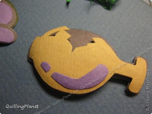 Картина панно рисунок Мастер-класс Рама паспарту Бумагопластика Вырезание Квиллинг Аквариум Бумага Бумажные полосы Картон фото 15