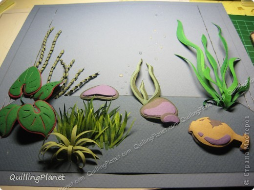 Имею отдельную страсть к композициям, особенно с замахом на натуральность..Поэтому аквариум - это прямо мое-мое:) Делала с вдохновением, до сих пор люблю эту работу:) В описании постараюсь подробно коснуться деталей.. фото 16