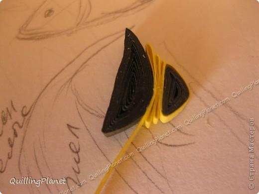 Картина панно рисунок Мастер-класс Рама паспарту Бумагопластика Вырезание Квиллинг Аквариум Бумага Бумажные полосы Картон фото 22