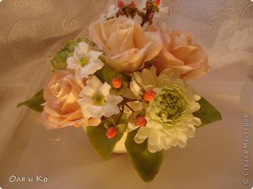Представляю на Ваш суд свой новый букет из роз и хризантем. фото 4